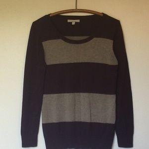 BANANA REPUBLIC Wine & Taupe Sweater Petite M